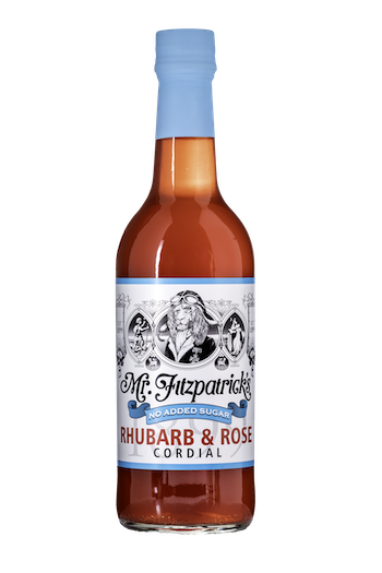 NEW! Rhubarb & Rose NO ADDED SUGAR CORDIAL