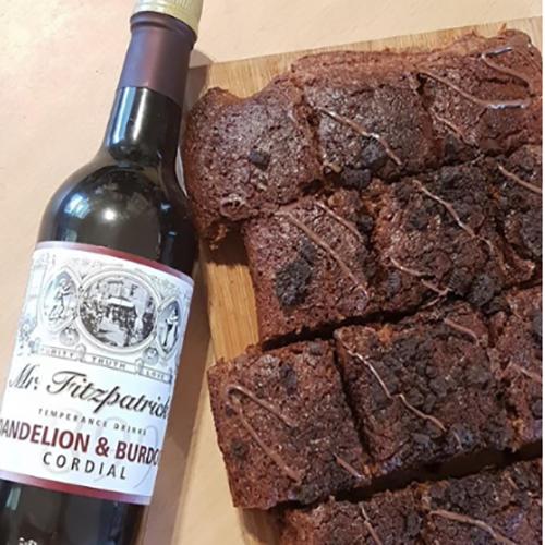 Dandelion & Burdock Brownies by KimGoesVegan
