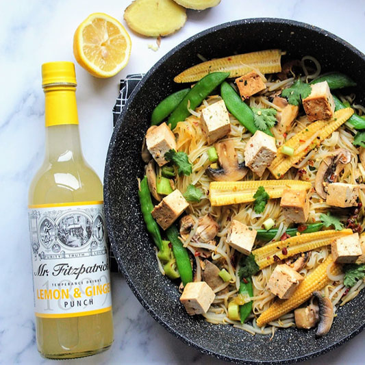Lemon & Ginger Tofu Stir Fry by SpamellaB