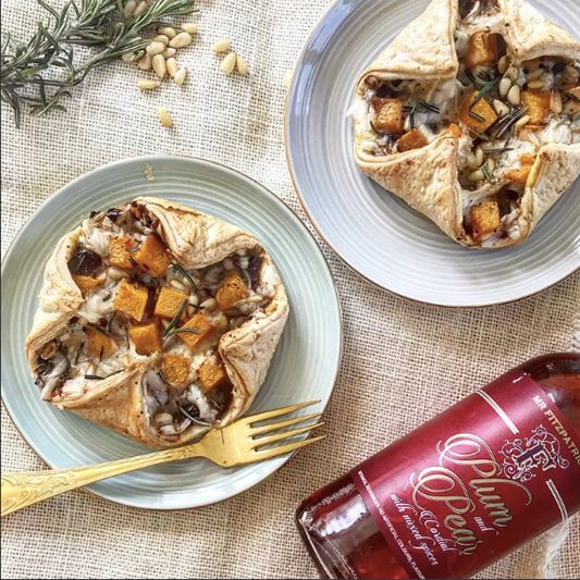 Spiced Onion Chutney & Rosemary Butternut Squash Tarts by The Clean Tribe